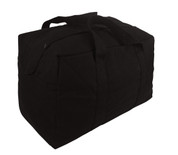 Black Canvas Parachute Cargo Bag
