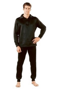 Black Extreme Cold Weather Polypro Zip Collar Neck Shirts - View