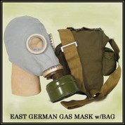 East German Army Gas Mask w/Bag