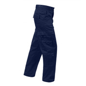 Midnight Navy Blue EMT Pants - Side View
