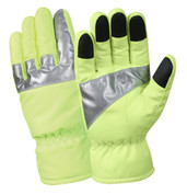 Safety Green Gloves w/Reflective 3M Tape