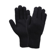 Outdoor Black Wool Gloves - View