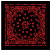 Black & Red Print Trainman Bandana