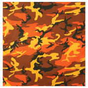 Savage Orange Camo Bandana - Bandanas