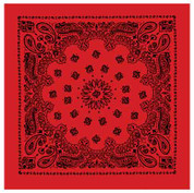 Red W/Black Print Trainman Bandana