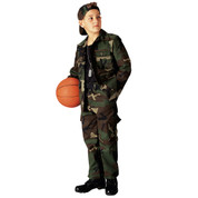 Kids Camo Jackets - Woodland Camo - Full View