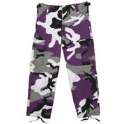 Kids Purple Camo Fatigue Pants - View
