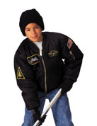 Kids Top Gun Black MA-1 Flight Jacket - View