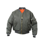 Kids Sage MA-1 Flight Jacket
