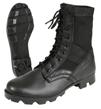 Kids Army Jungle Boots - Combo Side View
