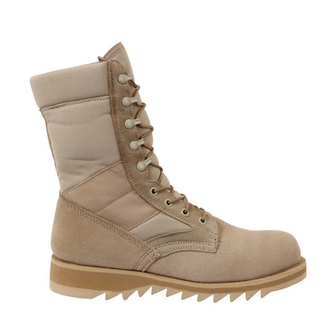 Kids Army Ripple Sole Desert Boot - Side View