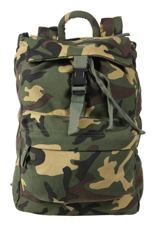 Kids Camo Gear Woodland Daypack - Full View
