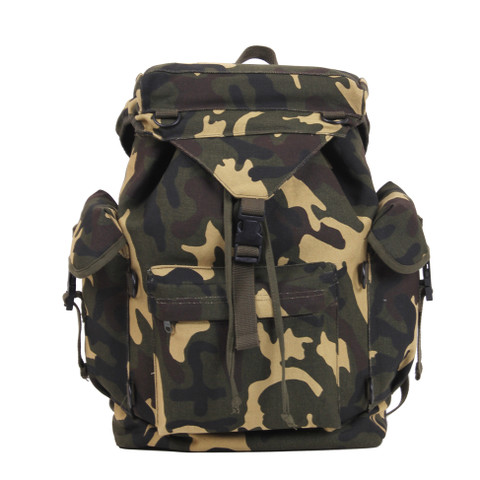 Kids Camo Troops Rucksack - Front View