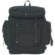 Kids Street Gear Euro Backpack - Black Canvas