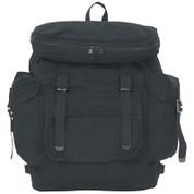 Kids Street Gear Euro Backpack - Black Canvas