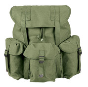 Kids Army Gear Field Backpack - Olive Drab Canvas