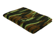 Kids Camo Fleece Blankets - Woodland Camo View