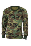 Kids Army Camo Long Sleeve T Shirt - Image View