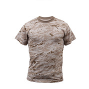 Kids Desert Digital Camo T Shirt - Front View