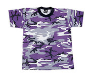 Kids Purple Camo T Shirts