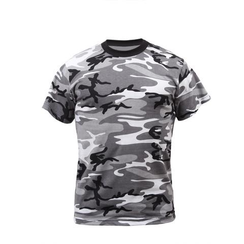 Kids Urban Camo T Shirts - Front View