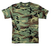 Kids Woodland Camo T Shirt