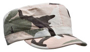 Kids Vintage Pink Camo Fatigue Cap - View