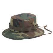 Kids Camo Jungle Hat - Front View
