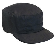 Kids SWAT Black Fatigue Cap - View