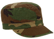 Kids Vintage Woodland Camo Fatigue Cap - View
