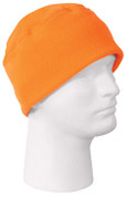 Kids Camo Safety Orange Polar Fleece Watch Cap - View