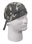 Kids Subdued Urban Digital Camo Head Wrap