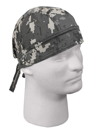 Kids Subdued Urban Digital Camo Head Wrap - View