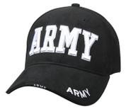 Deluxe Black Army Logo Cap