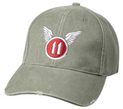Vintage Wash 11th Army Air Corps Insignia Cap