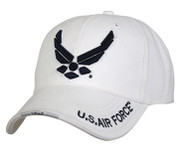 Deluxe Low Profile White New Wing Air Force Cap