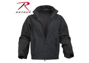 Rothco Black Soft Shell Uniform Jacket - Full View