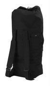 Black Tactical Canvas Backpack Duffle Bag - View