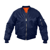 Rothco Navy MA-1 Flight Jacket - Front View
