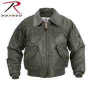Sage Green CWU 45P Flight Jackets - Front View