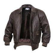 Rothco A-2 Brown Leather Flight Jacket - View