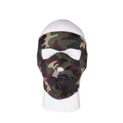 Reversible Woodland Camo Neoprene Face Mask