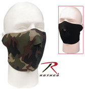 Reversible Neoprene Half Face Mask Woodland Camo