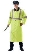 Reversible Safety Green Reflective Rain Slicker
