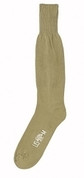 G.I. Style Khaki Army Cushion Sole Socks-Made USA