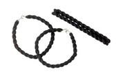 Black Elastic Boot Blousing Garters