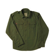 Ultra Force Vintage Olive Drab Fatigue Shirt - Flat View