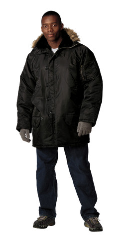 Black N 3B Parka - Full View