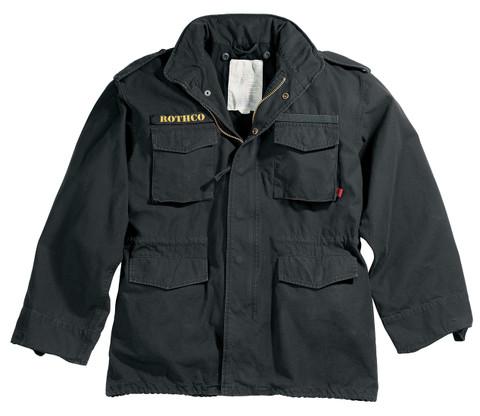 Black Vintage M 65 Field Jacket - View