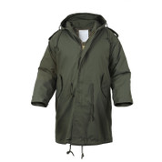 Olive Drab M-51 Fishtail Parka - Front View